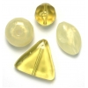 Lucite Assorted Large Beads Mix Pineapple Quartz - 72 Grams